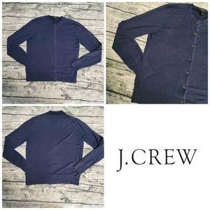 J. Crew Blue Button Up Henley Long Sleeve Cardigan